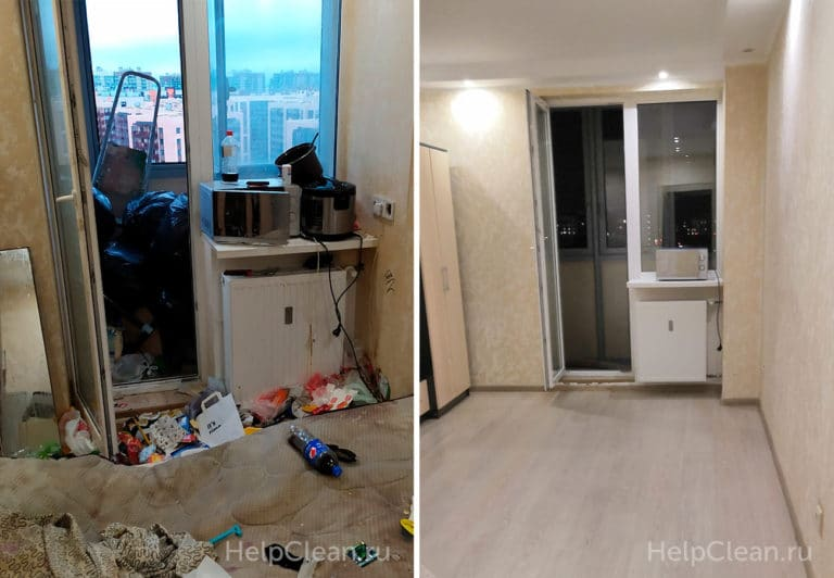 Уборка грязной квартиры студии после жильцов