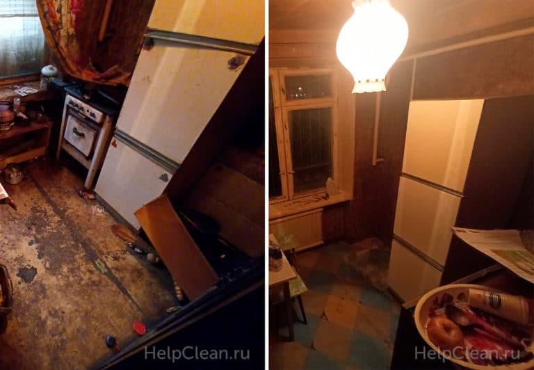 Уборка очень грязной кухни