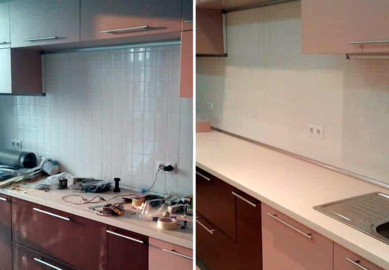 Уборка кухонного гарнитура после ремонтных работ