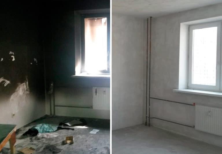 Мойка после пожара в квартире