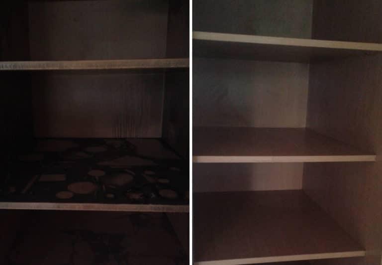 Мойка шкафов после пожара