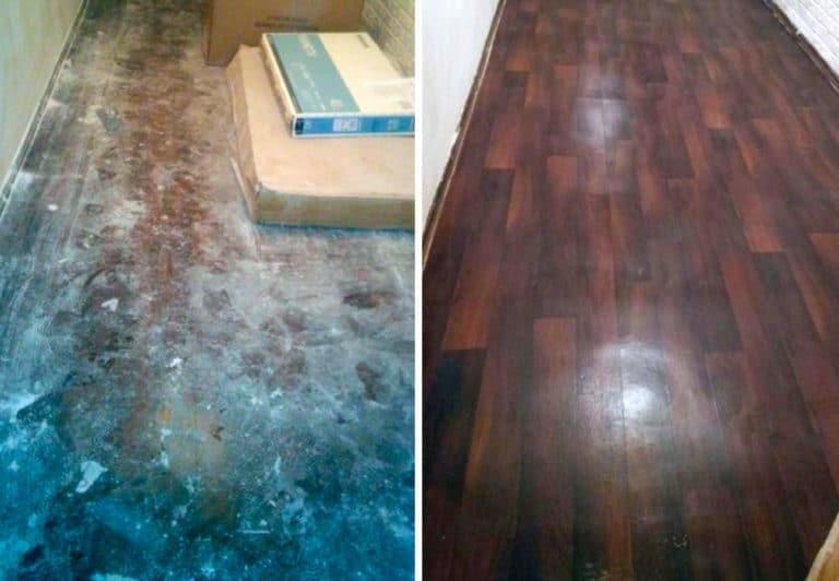 Уборка пола в квартире после ремонта