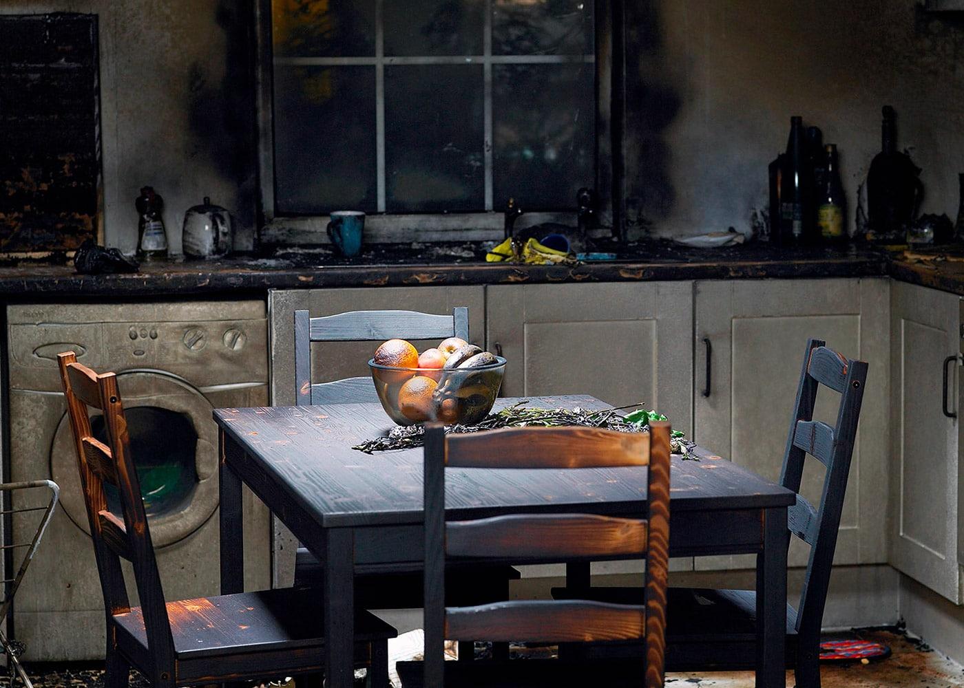 Запах в квартир после пожара